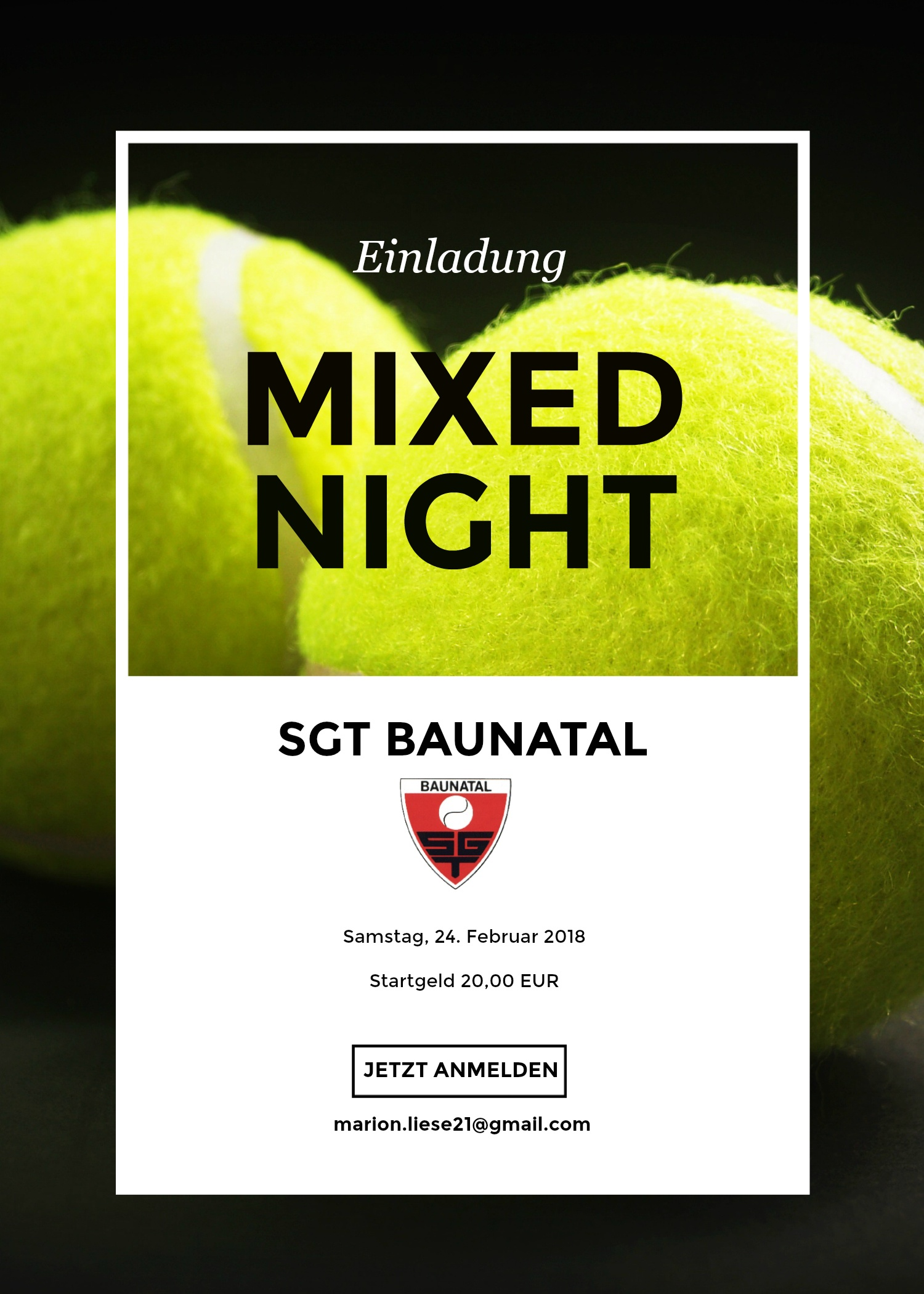 Einladung zur Mixed-Night